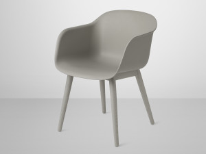 View Muuto Fiber Armchair Wood Base