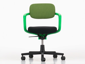 View Vitra Allstar Office Swivel Chair Signal Green