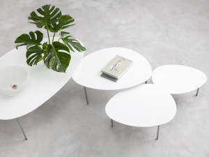 View STUA Eclipse Nesting Tables - White