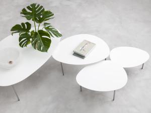 STUA Eclipse Nesting Tables - White