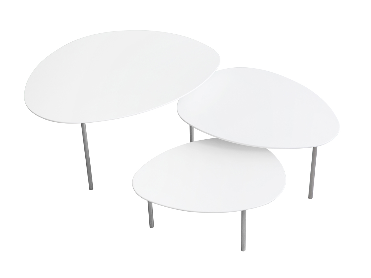 buy the stua eclipse nesting tables  white at nestcouk - stua eclipse nesting tables  white