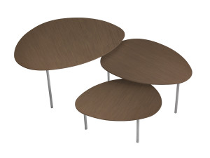 View STUA Eclipse Nesting Tables - Walnut