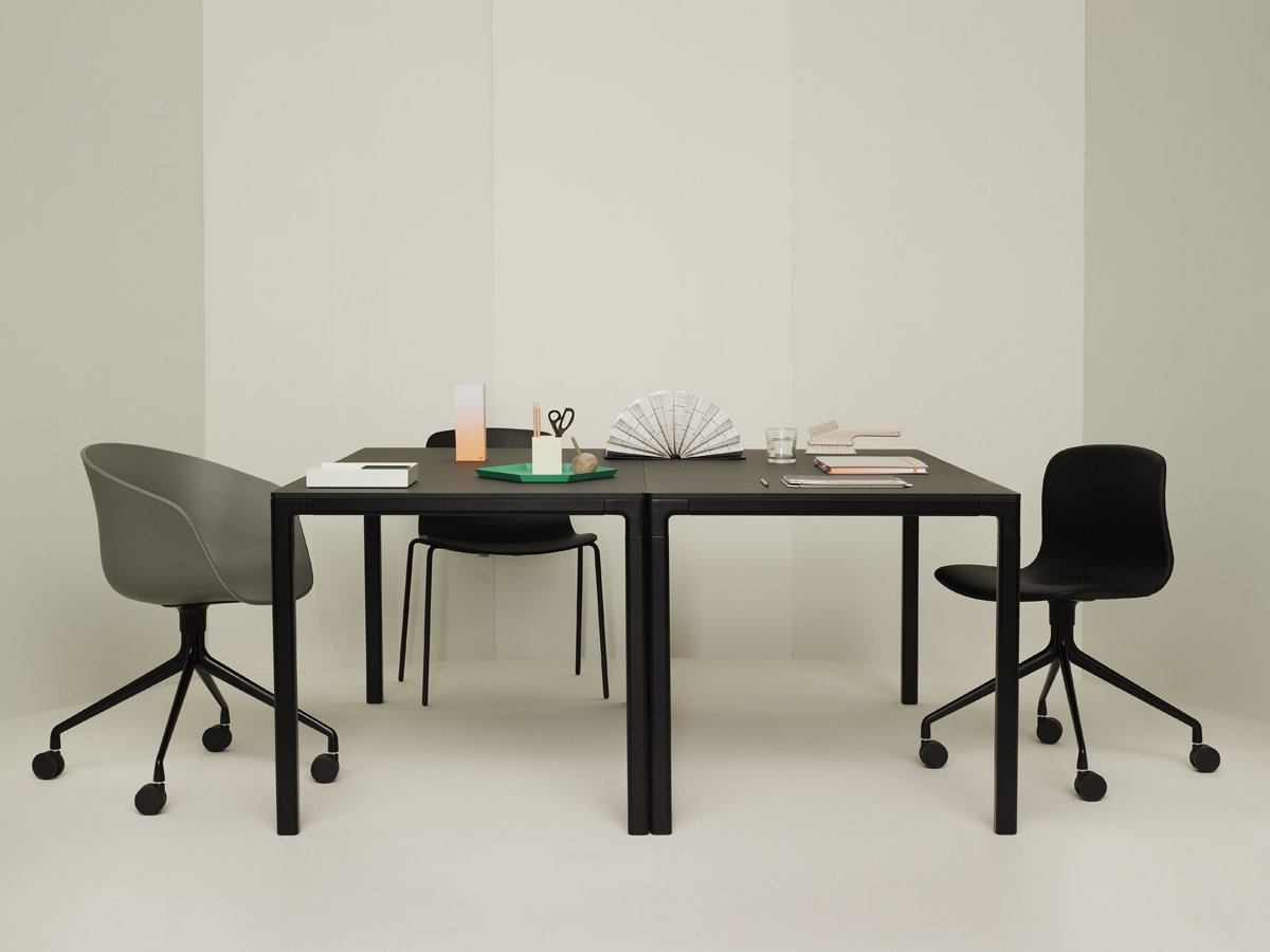 buy the hay t12 dining table black at. Black Bedroom Furniture Sets. Home Design Ideas