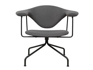 Gubi Masculo Lounge Chair Swivel Base