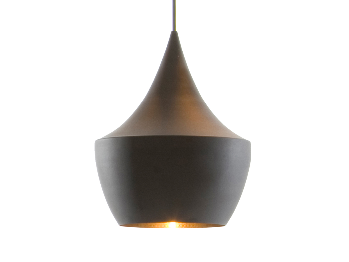 Buy the tom dixon beat light fat black at for Suspension 4 lampes