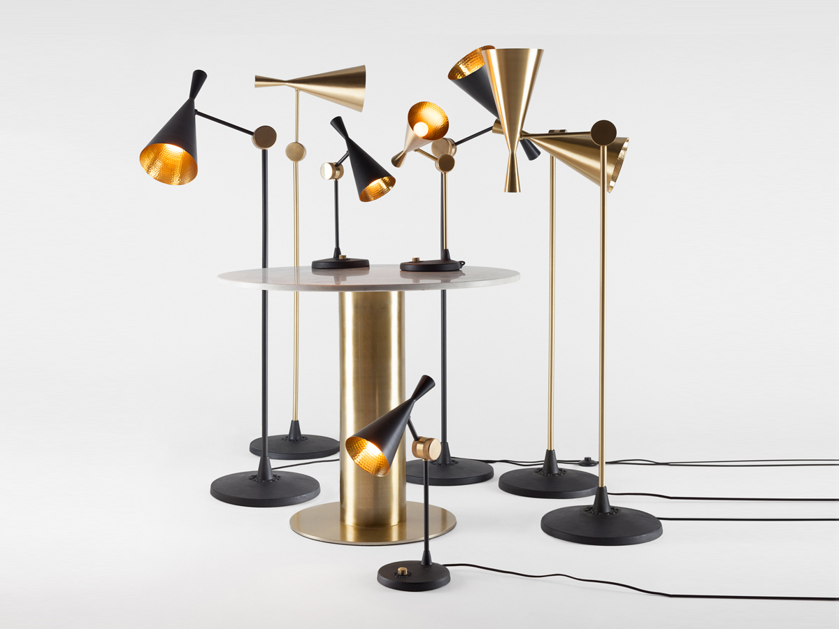 Buy the Tom Dixon Beat Floor Lamp Black at Nest.co.uk