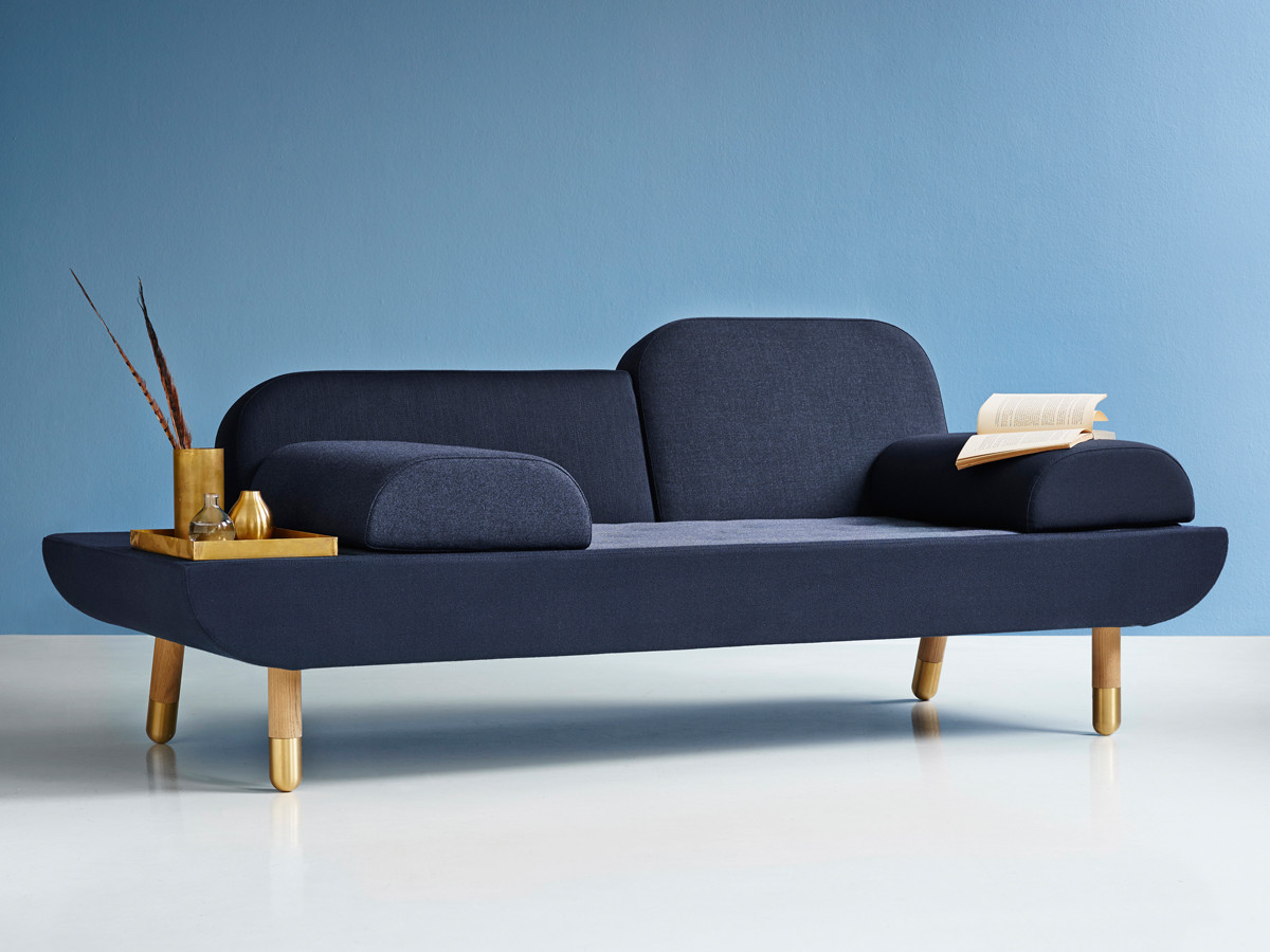 Buy the erik jorgensen ej 123 toward sofa blue at for Sofa 220 breit