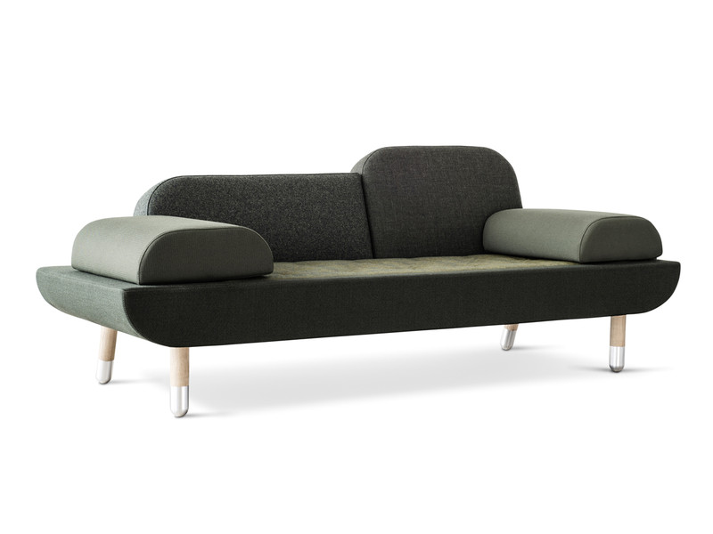 Erik Jorgensen EJ 123 Toward Sofa Green