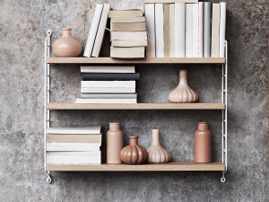 View String Pocket Shelving Oak