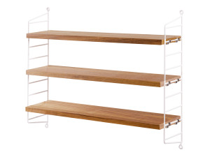 String Pocket Shelving Oak
