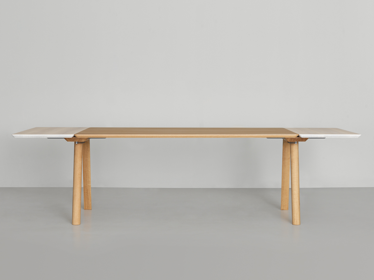 Buy the Zeitraum Rail Extendable Dining Table at Nestcouk