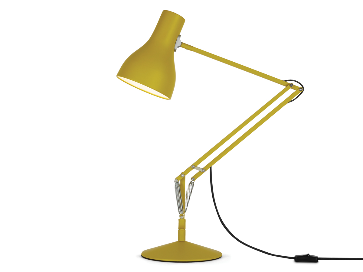 view anglepoise type 75 desk lamp margaret howell yellow ochre edition