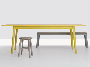 Zeitraum E8 Table Rectangular Zinc Yellow