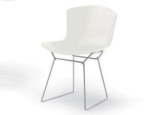 Knoll Bertoia Plastic Side Chair White Base