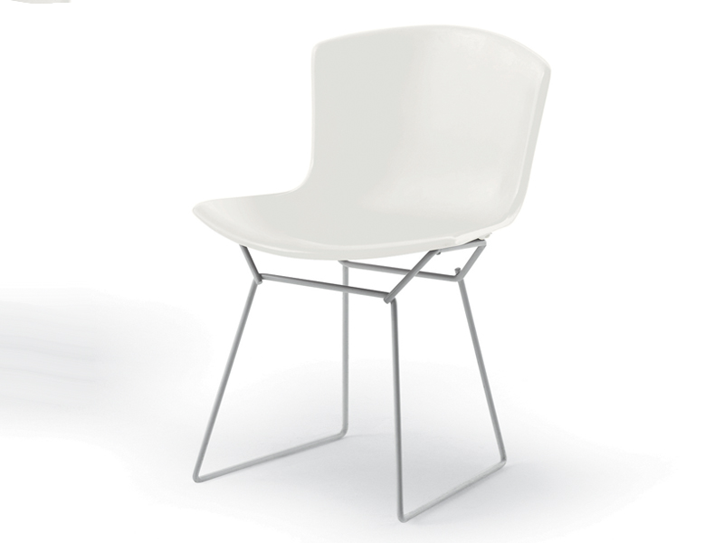 Exceptionnel Knoll Bertoia Plastic Side Chair White Base
