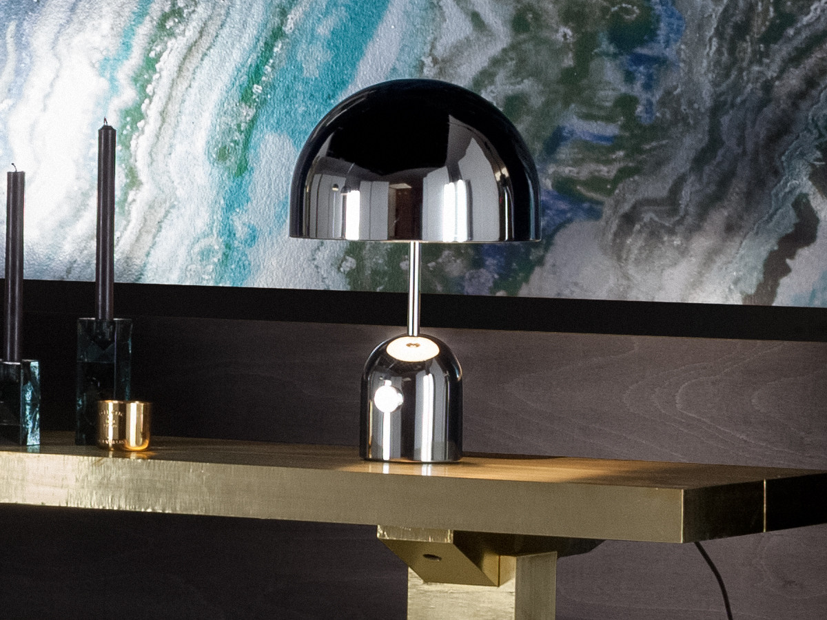Buy The Tom Dixon Bell Table Lamp Chrome At Nest Co Uk