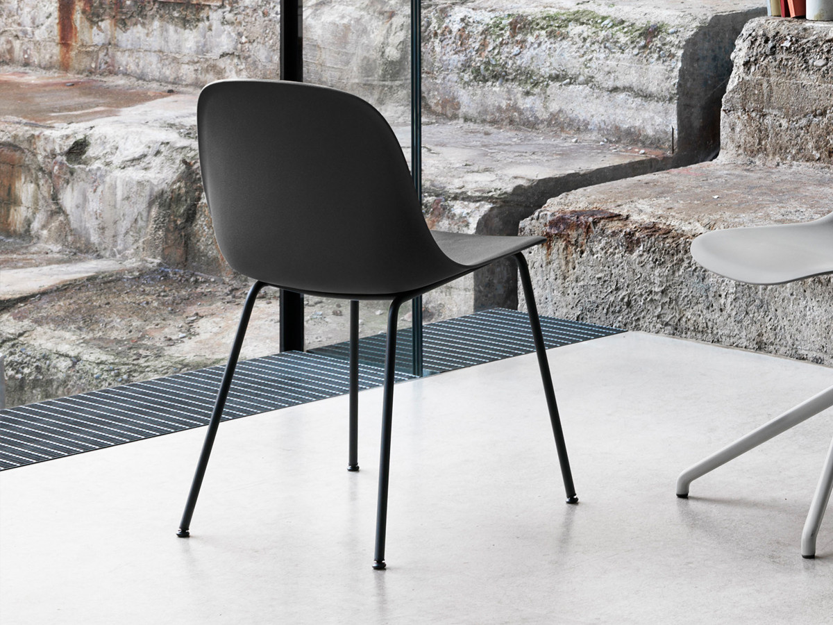 buy the muuto fiber side chair tube base at. Black Bedroom Furniture Sets. Home Design Ideas
