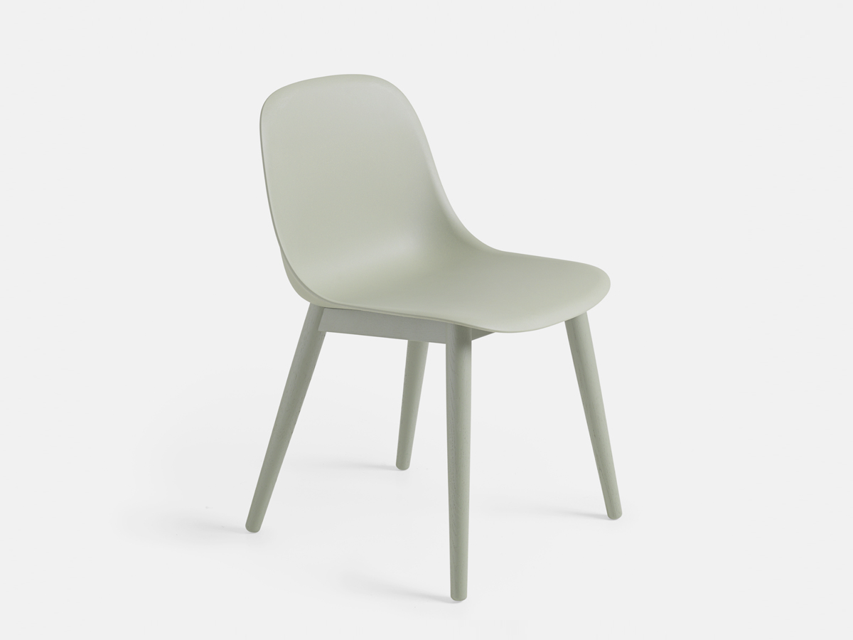 buy the muuto fiber side chair wood base at. Black Bedroom Furniture Sets. Home Design Ideas