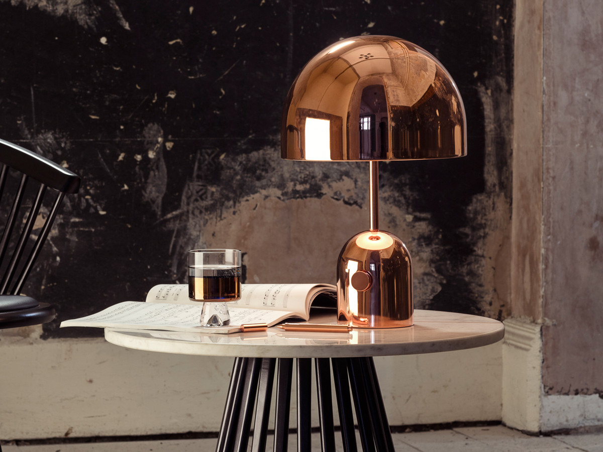 Buy the Tom Dixon Bell Table Lamp Copper at Nest.co.uk