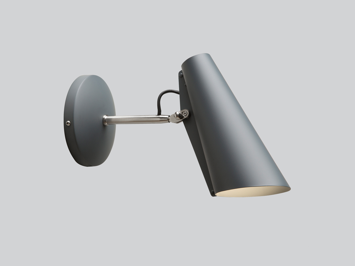 Wall Lamp Hurricane I Light Grey : Buy the Northern Lighting Birdy Short Wall Light at Nest.co.uk