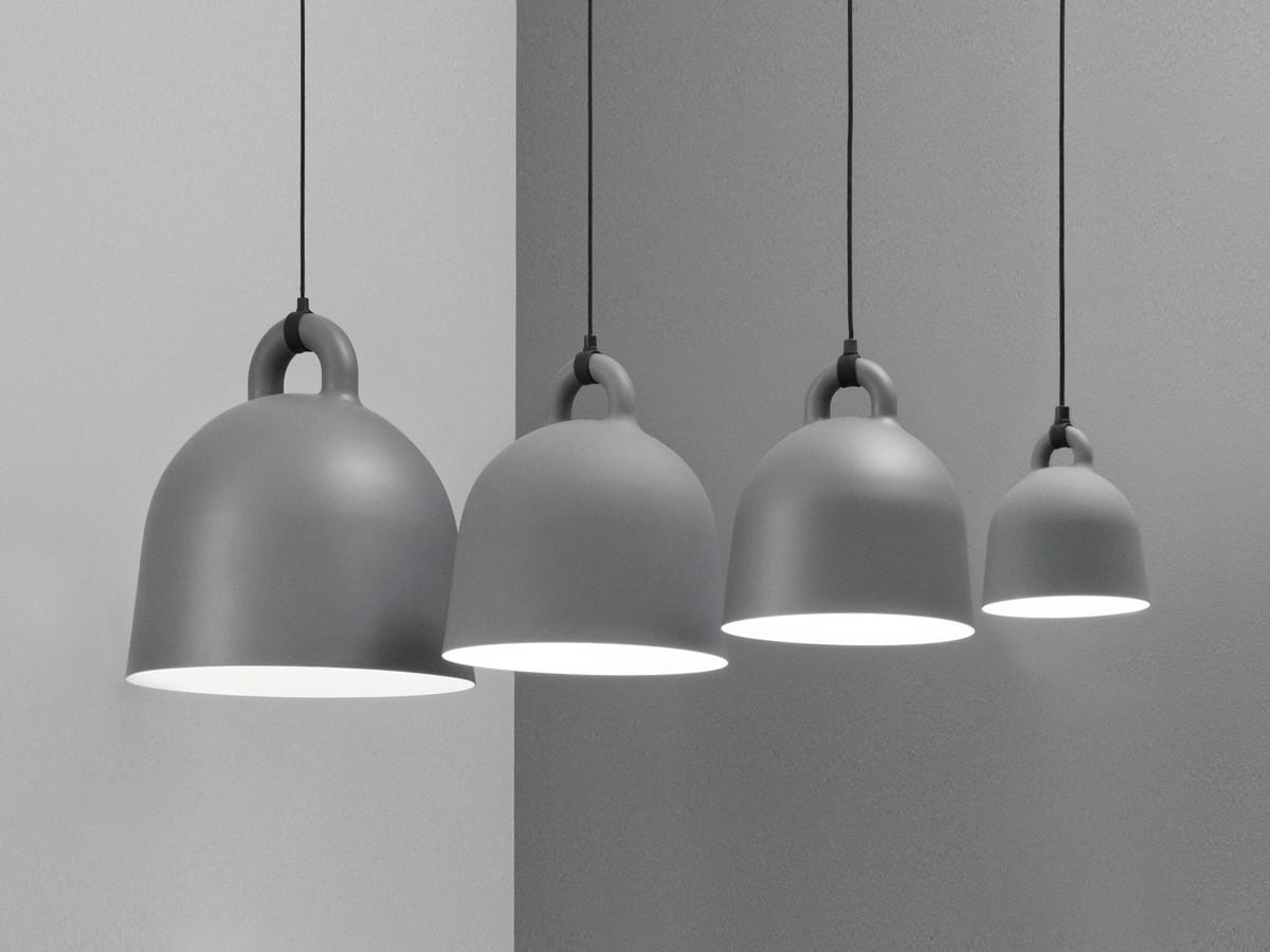 123456789 & Buy the Normann Copenhagen Bell Pendant Light - Grey at Nest.co.uk