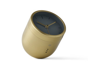 View Menu Norm Tumbler Alarm Clock Brass