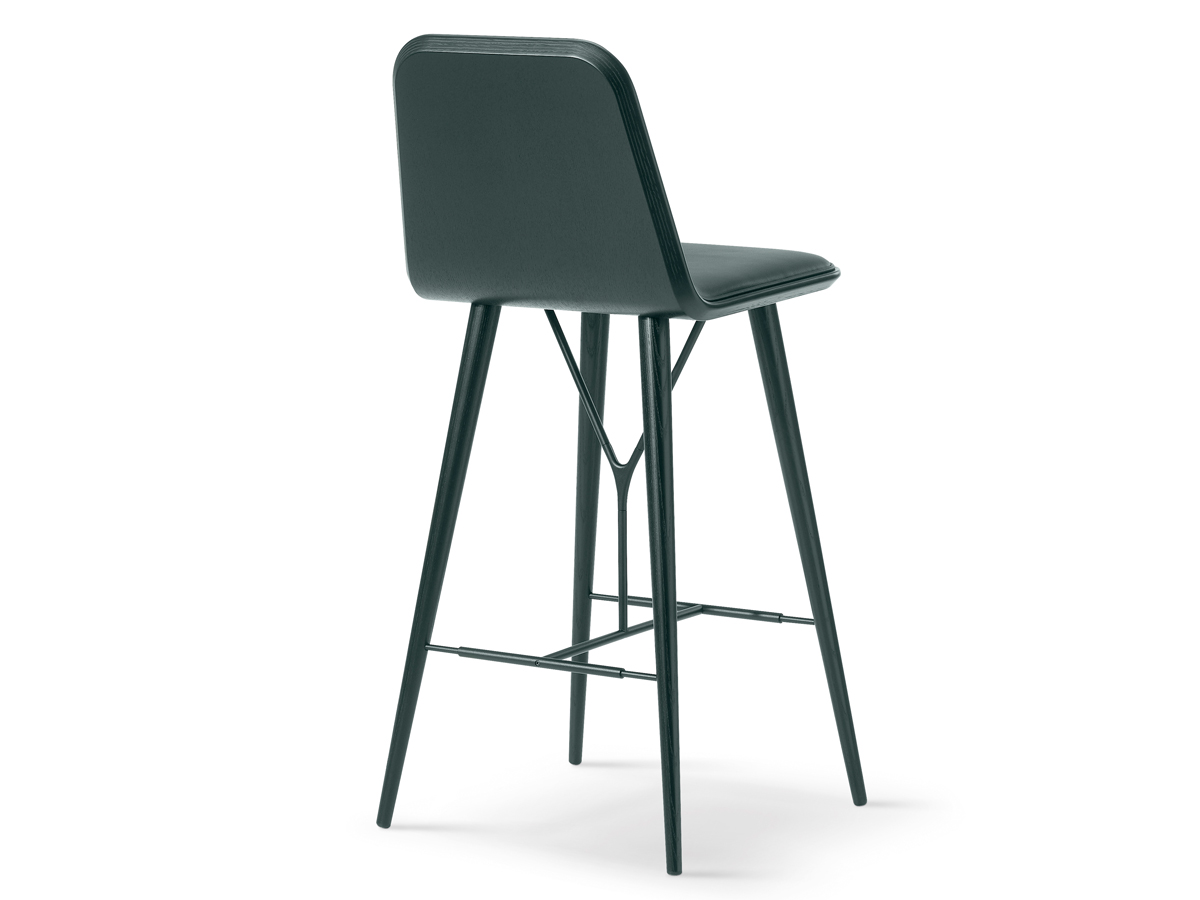 Buy The Fredericia Spine Bar Stool With Wood Base At Nest