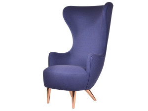 View Ex-Display Tom Dixon Wingback Chair with Copper Legs