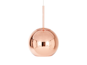 View Tom Dixon Copper Round Pendant Light 25cm
