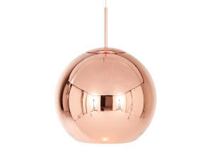 View Tom Dixon Copper Round Pendant Light 45cm