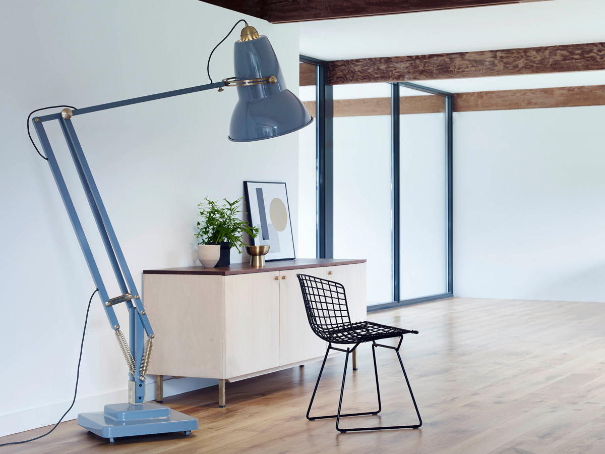 Buy the Anglepoise Original 1227 Giant Brass Floor Lamp at ...