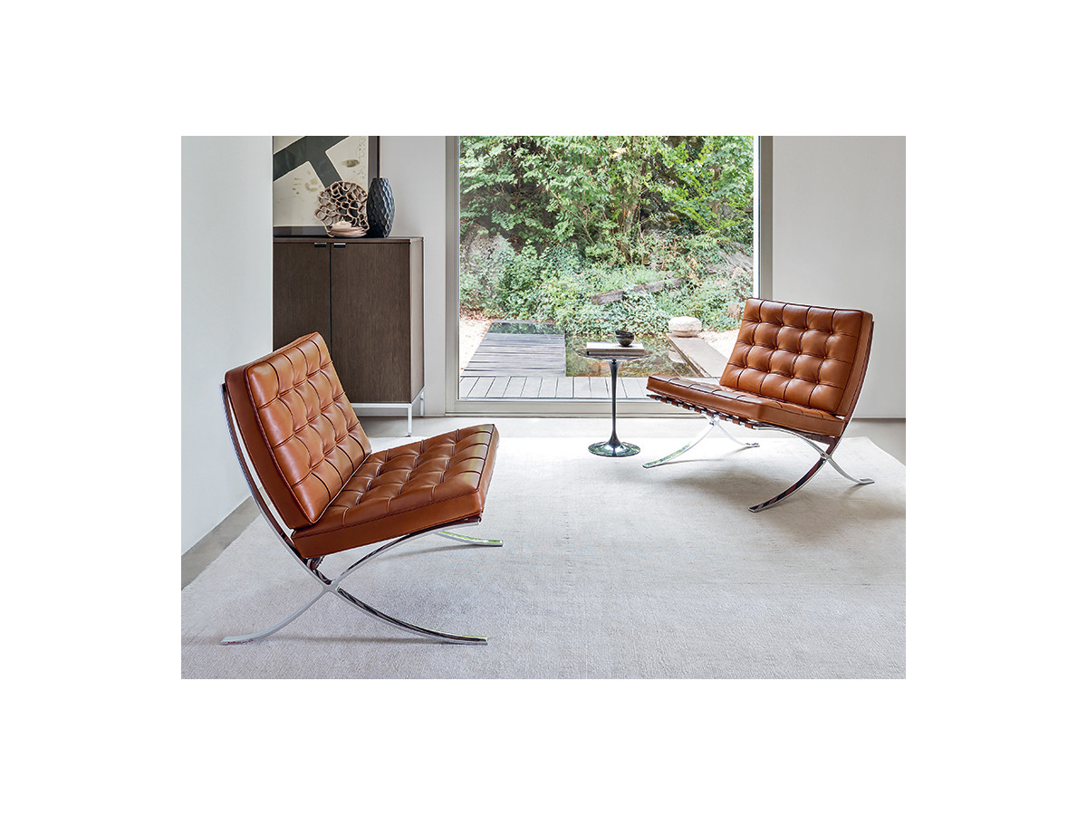 Barcelona chair brown - Knoll Barcelona Chair Relax Version