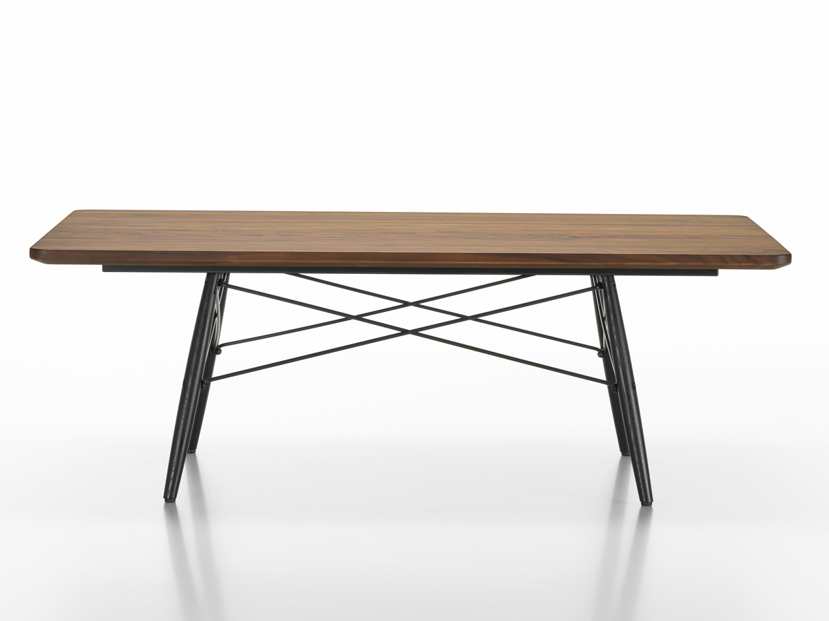 Buy the vitra eames coffee table rectangular at for Table bois metal