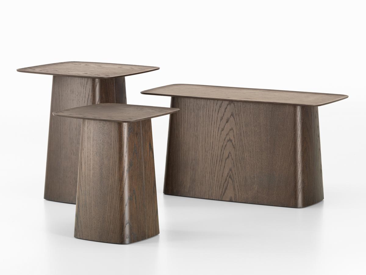 buy the vitra wooden side table dark oak at. Black Bedroom Furniture Sets. Home Design Ideas