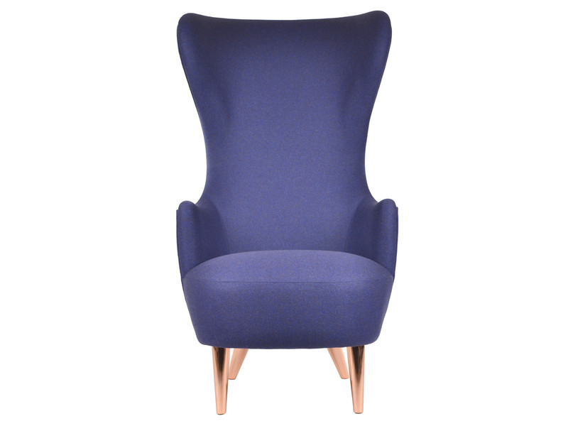 Tom Dixon Wingback Chair with Copper Legs