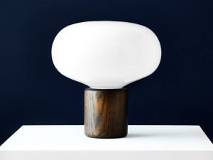 New Works Karl-Johan Table Lamp Smoked Oak