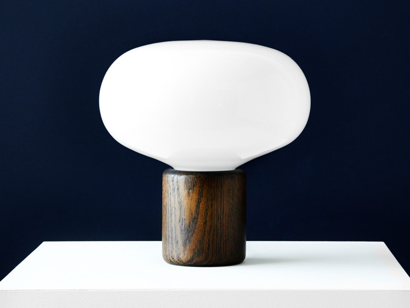 New works karl johan table lamp smoked oak