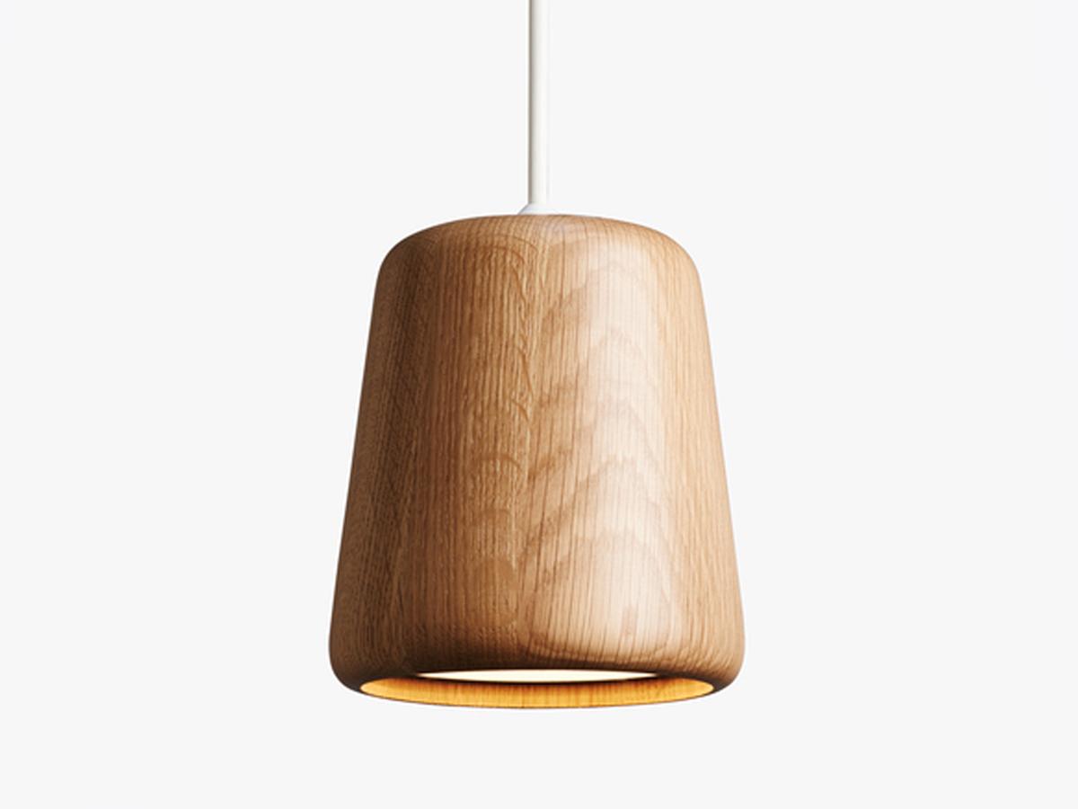 view new works material pendant light oak