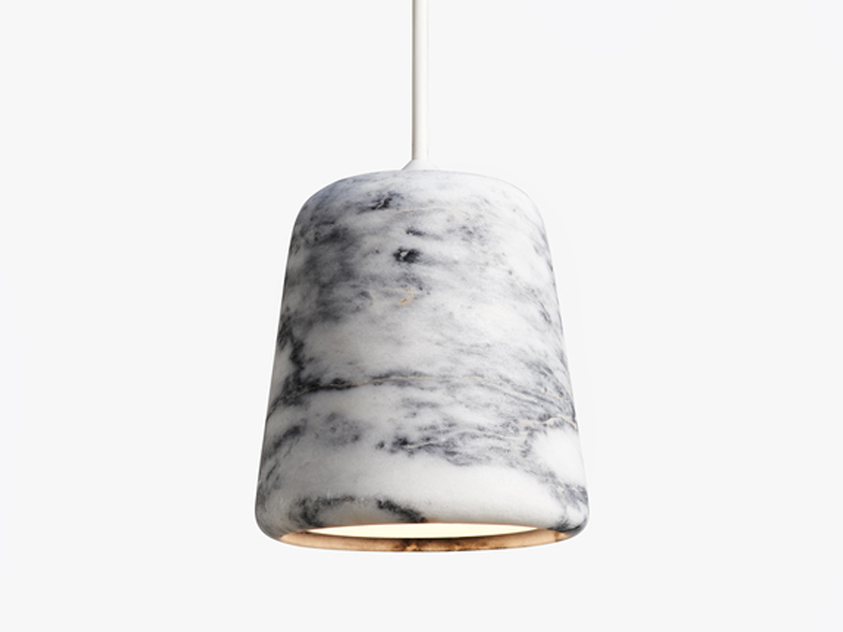 Buy the New Works Material Pendant Light Marble at Nestcouk