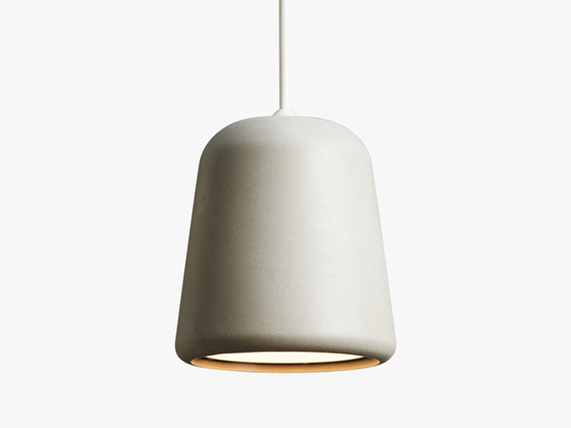 buy the new works material pendant light concrete at nest co uk