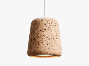 View New Works Material Pendant Light - Cork