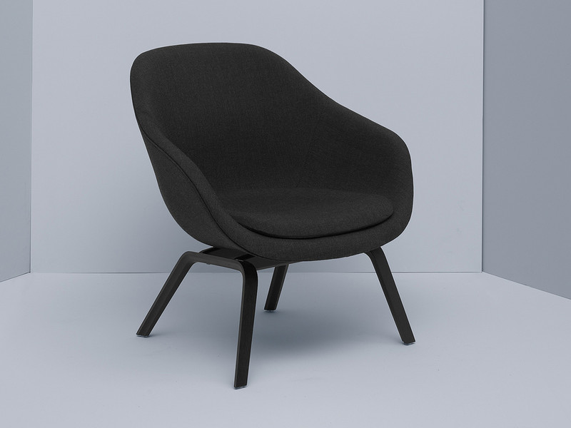 Hay About a Lounge Chair Low AAL83 - Black stained oak