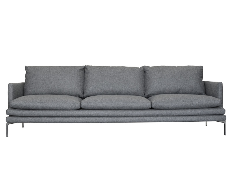Zanotta 1330 William Three Seater Sofa Grey