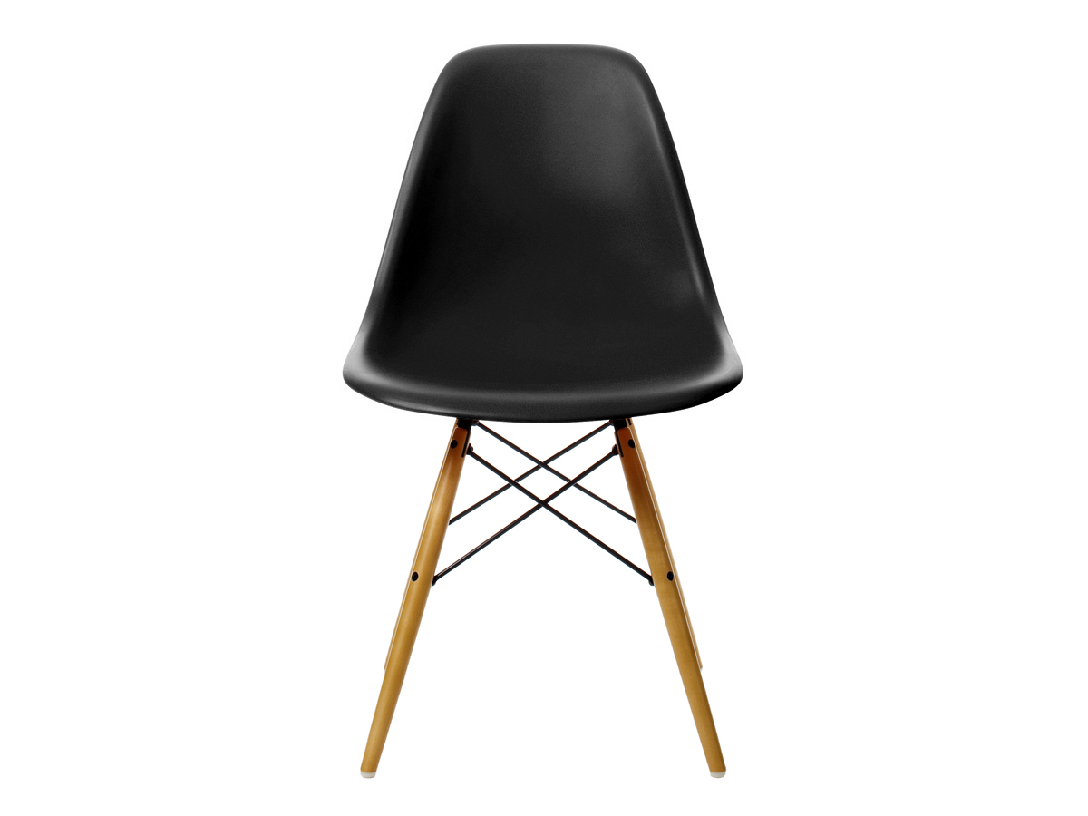 Buy the vitra dsw eames plastic side chair golden maple for Eames chair gunstig