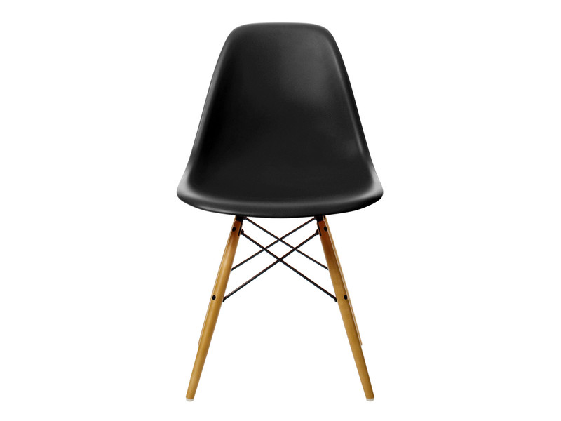 buy the vitra dsw eames plastic side chair golden maple base at nest