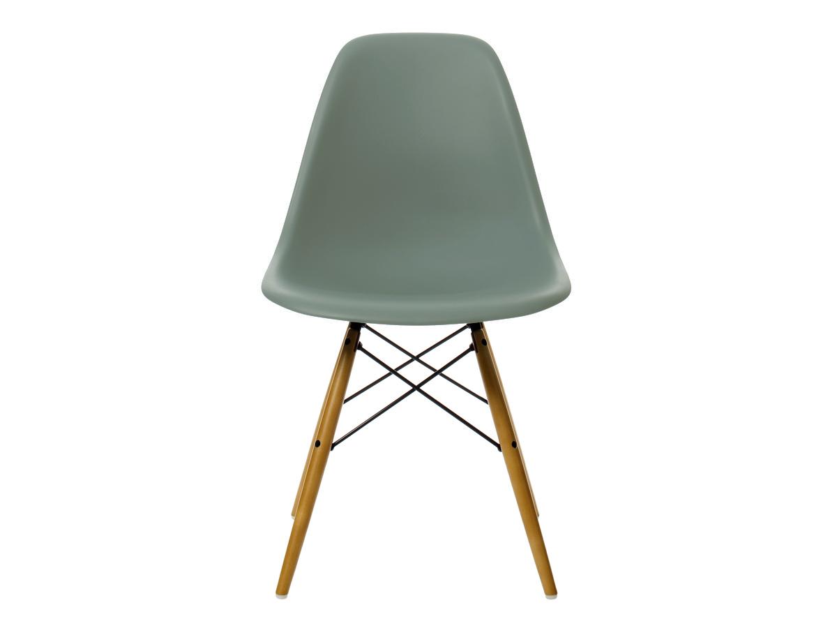 buy the vitra dsw eames plastic side chair golden maple base at. Black Bedroom Furniture Sets. Home Design Ideas