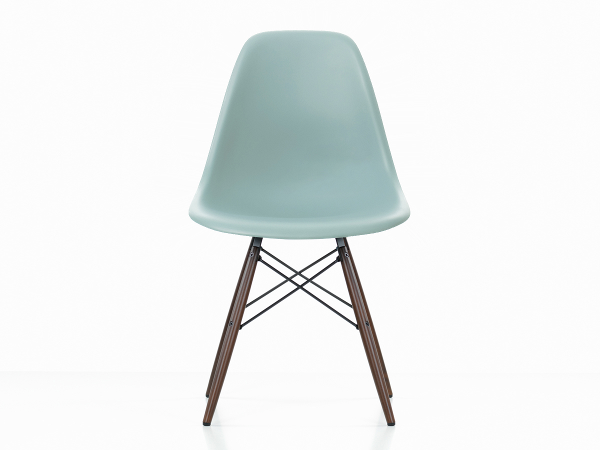 buy the vitra dsw eames plastic side chair dark maple base. Black Bedroom Furniture Sets. Home Design Ideas