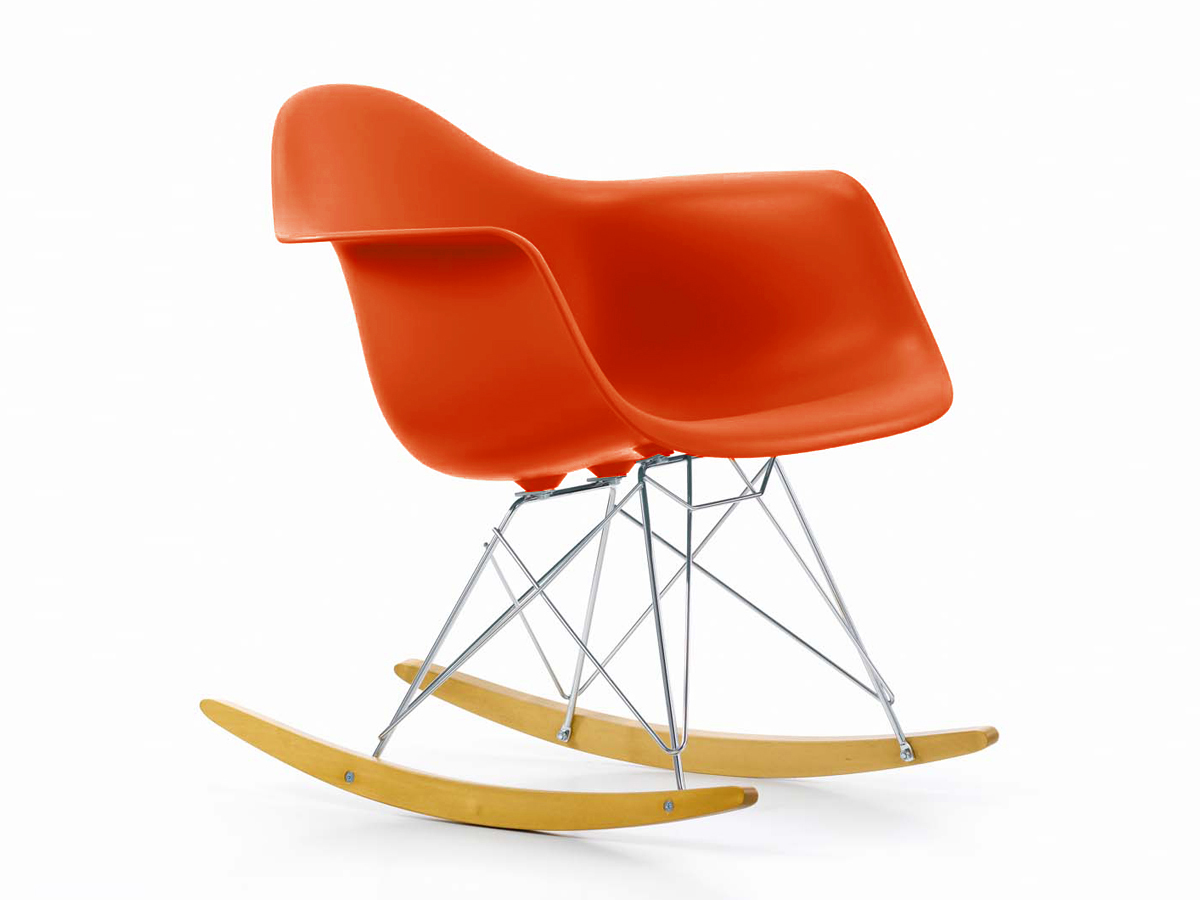 Buy the vitra rar eames plastic armchair at for Vitra eames plastic armchair replica