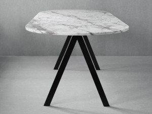 View Friends & Founders Saw Dining Table Marble