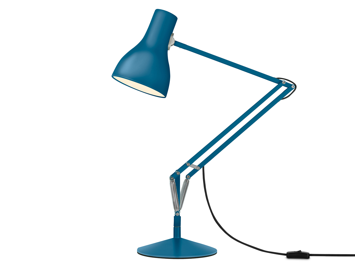buy the anglepoise type 75 desk lamp margaret howell saxon blue edition at. Black Bedroom Furniture Sets. Home Design Ideas